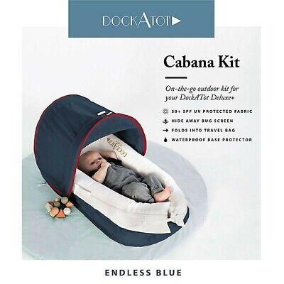 DockATot Cabana Kit for Deluxe+ Dock in Endless Blue, BRAND NEW