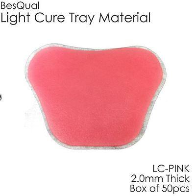 Dental Light Cure Custom Tray Material Bqtray Pink 50 Per Box 2.0mm Thickness