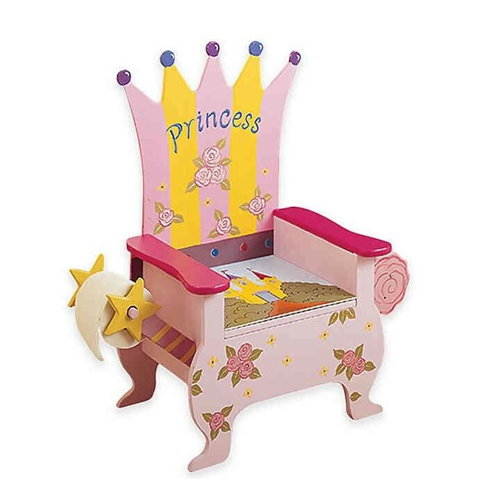 Teamson Kids Princess Potty Wooden Training Chair Baby Girls New