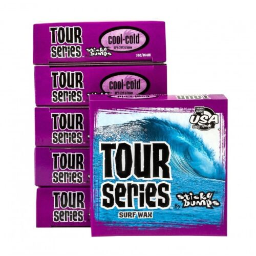 sticky bumbs surfboard Tour Series surf wax 10 pack Cool - Cold  + wax comb