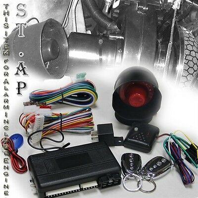 Pair Remote Button JDM Engine Start All Car Lock Alarm Auto Security System Kit