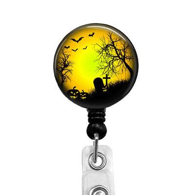 Halloween Spooky Badge Reel Retractable Badge Holder, - Halloween Badge Reels
