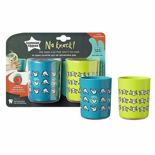 Tommee Tippee No Knock 2-Pack 6 oz. Plastic Toddler Drinking Cups FREE SHIPPING