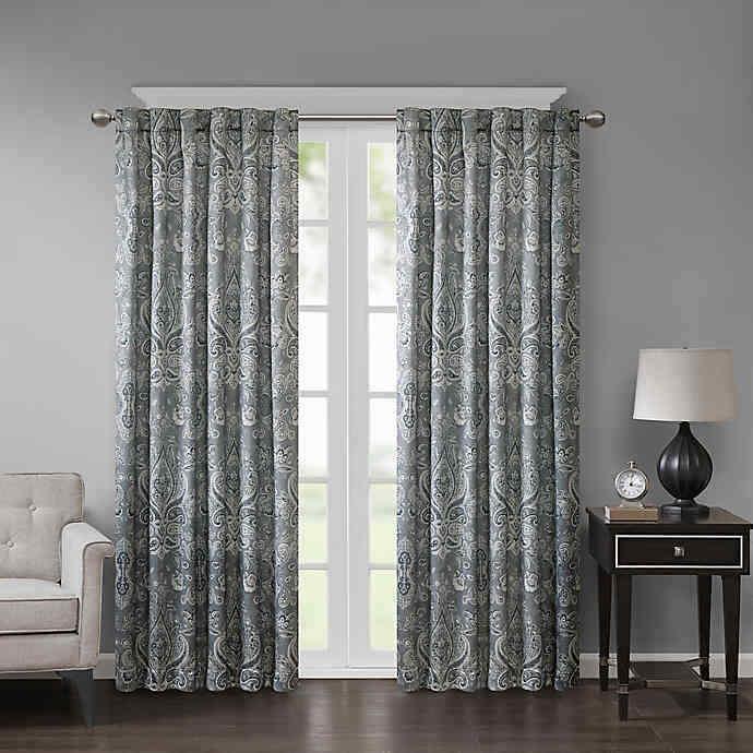 Georgia Paisley Room Darkening Rod Pocket/Back Tab Curtain P