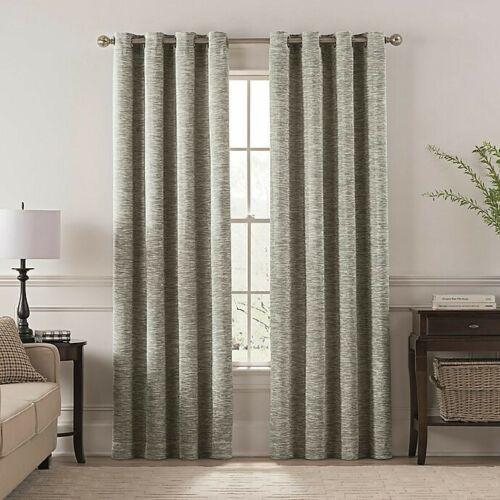 Design Solutions Chantal 84 Grommet Room Darkening Window Curtain 1 Panel Gray - $14.70