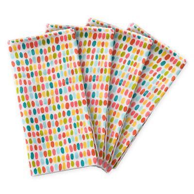 Colorful Polka Dot 100% Cotton Fabric Napkins Set of 4 20X20
