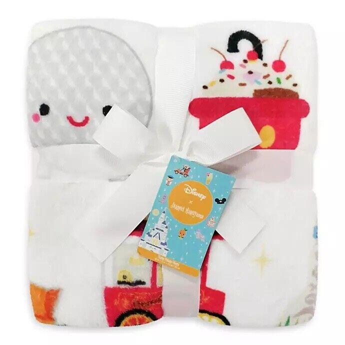 """Disney Parks Jerrod Maruyama WDW Chibi Icons Fleece Throw Blanket 60"""" x 72"""""""