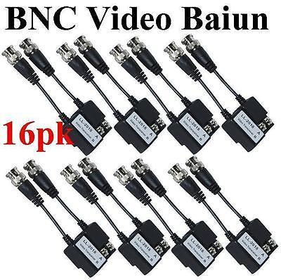 16pk LT-2018 BNC CAT5 Video Balun Transceiver Cable