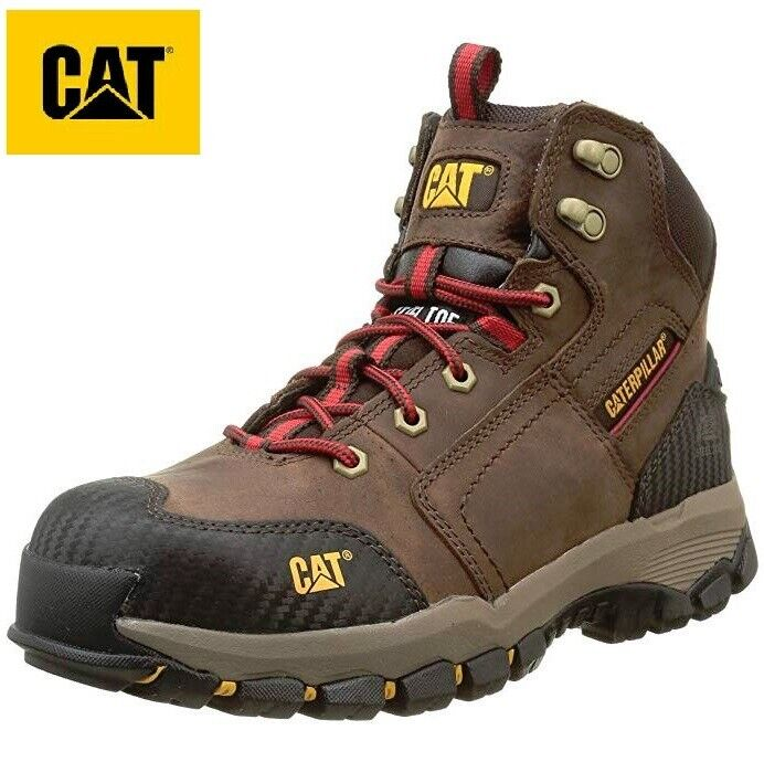 MENS Caterpillar Dickies LIGHTWEIGHT SAFETY STEEL TOE CAP WORK TRAINER BOOTS SZ