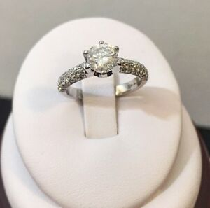 18k white gold 1.38ct diamond engagement ring //Valued at $9,400