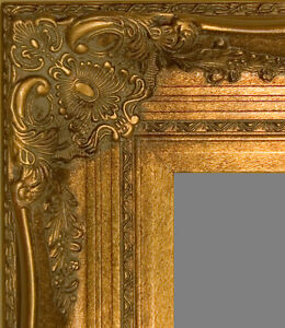 picture frame wood gold ornate wedding art photo canvas fancy 16x20 16 x 20 ebay. Black Bedroom Furniture Sets. Home Design Ideas