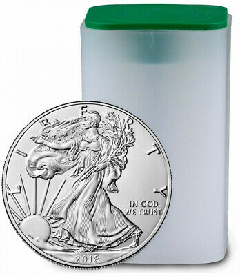 2018 AMERICAN SILVER EAGLE ROLL IN MINT TUBE 20 COINS .999