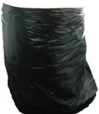 100x Large Black Plastic Wheelie Bin Liners Refuse Bags Sacks 30x46x54