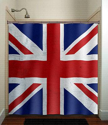 United Kingdom UK Union Jack England flag shower curtain custom bathroom decor f
