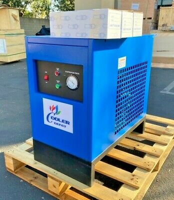 New 50 Cfm Refrigerated Compressed Air Dryer 10hp Compressor 220v Cooler Depot