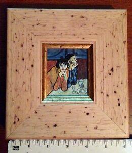 REPRO HARLEQUIN Peinture à l'huile miniature de Raymond Furlotte West Island Greater Montréal image 6