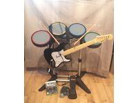 X-BOX 360 Guitar and Drum Kit