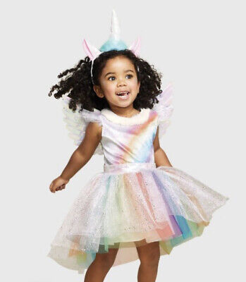 Rainbow Unicorn Girls' Sz 18-24 Months Halloween Costume, Hyde & Eek! Boutique