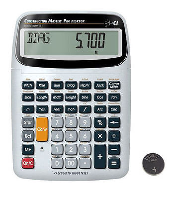 Calc Construction Master Pro Desktop Calculator 44080 With Spare Cr2032 Battery