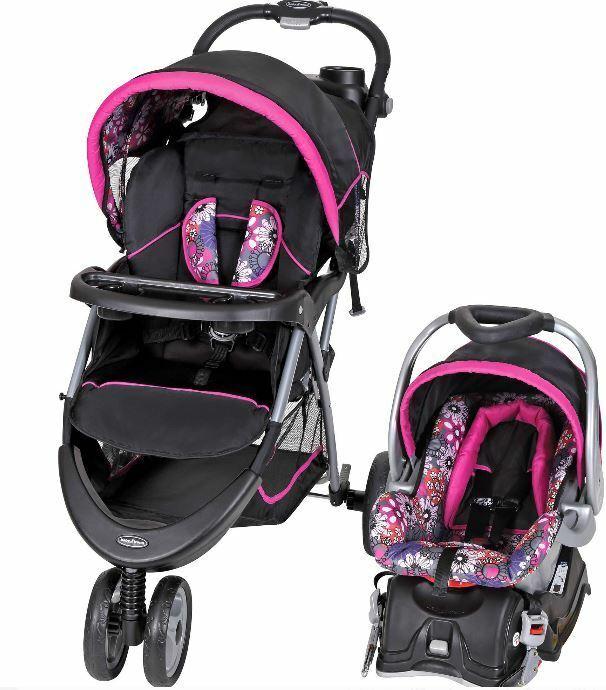 Baby Trend EZ Ride 5 Travel Stroller System, Floral Garden,