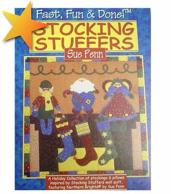 Fast Fun and Done Stockings and Pillows Christmas Quilt Designs Patterns WE45389 ()