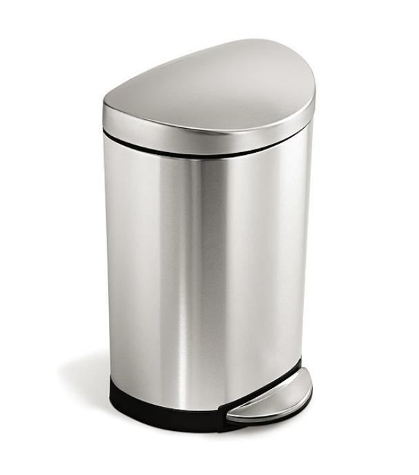 Simplehuman 10 Liter Semi-Round Step Trash Can