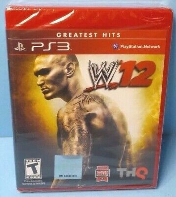 PS3 W12 GREATEST HITS NEW SEALED, FREE SHIPPING - Shrink Wrap Is Torn comprar usado  Enviando para Brazil