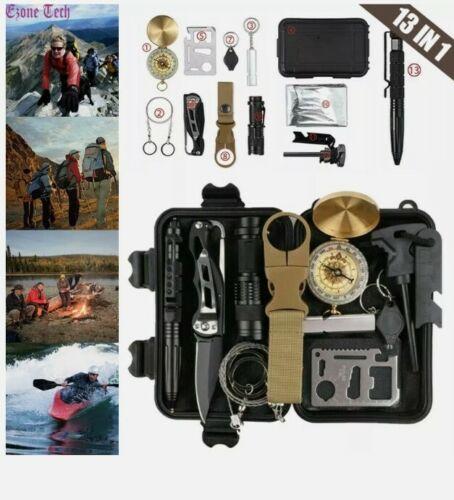 13 in 1 outdoor survival gear kit