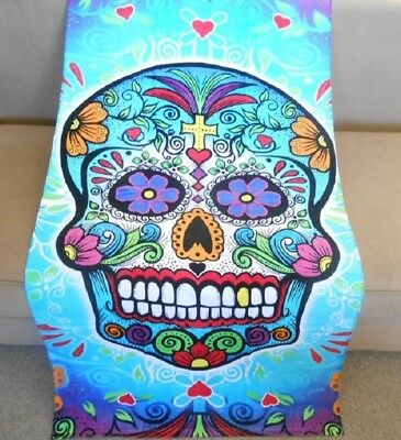 New Sugar Skull Oversized Day of the Dead Towel Beach Bath P