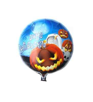 Happy Halloween Folien Helium Ballon Totenkopf Horror Gruselige Deko Kürbis