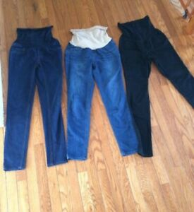 3 pairs of size small maternity pants