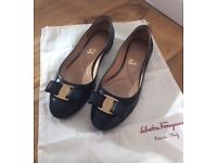 Black Salvatore Ferregamo Shoes size 36