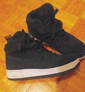 Chaussures Nike Air Force One Black/White size 9