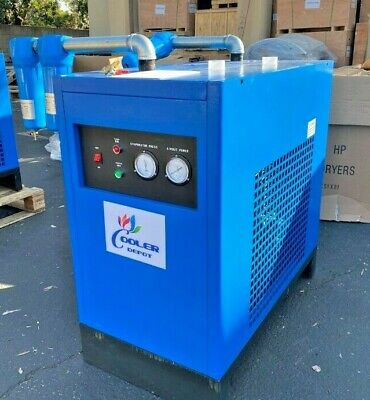 New 100 Cfm Refrigerated Compressed Air Dryer 30hp Compressor 220v Cooler Depot