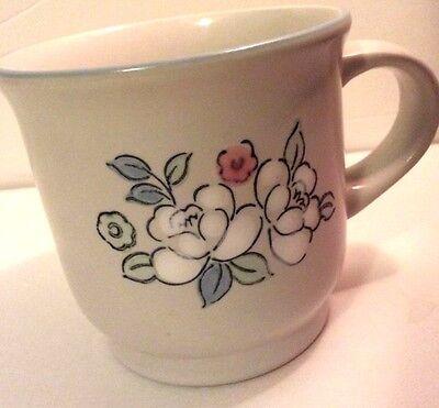 CHANTILLY MUG FLEUR DE LUNE COFFEE CUP STONEWARE CERAMIC JAPAN FLOWERS De Lune Cup