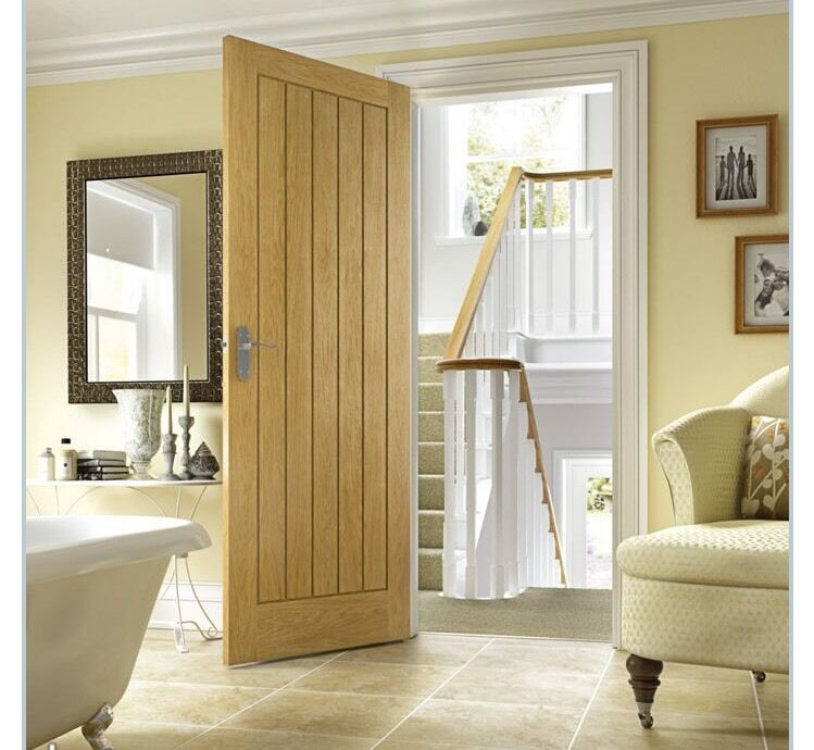 Wickes Geneva Internal Cottage Oak Veneer Door 5 Panel 1981 X 762mm & Door Wickes \u0026 Wickes Halifax Internal Fire Door White Moulded 5 ... Pezcame.Com