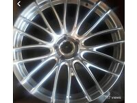 "Set of 4 20"" sonic alloy wheels"