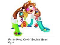 Fisher Price Kickin' Bobbin' Bear Gym