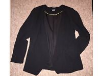 Wallis Black Suit Jacket Size 10 Swing Style