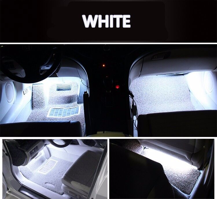 12v multi color car interior footwell decoration atmosphere led strip light lamp. Black Bedroom Furniture Sets. Home Design Ideas
