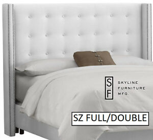 bnib Skyline Nail Button Tufted Wingback Full/double headboard