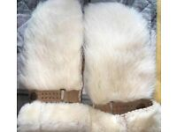 Fur ugg gloves