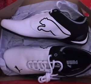 Black & White PUMA Running Shoes