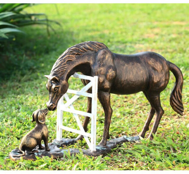 Barnyard Pals Horse and Dog Garden Statue Sculpture Figurine by