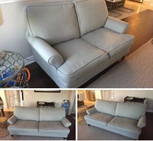 **Excellent Condition - Light Grey Couch & Loveseat.