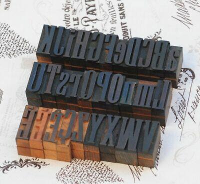 A-z Alphabet 1.06 Letterpress Wooden Printing Blocks Wood Type Vintage Printer.