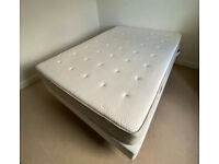 IKEA HESSING double mattress (2 years old, excellent condition) and SULTAN AUKRA base for quick sale