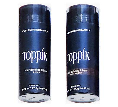 Black Dark Medium Light Brown 27.5g Toppik Hair Building & Thickening Fiber LT