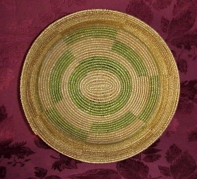 Antique Large Native American Indian Coiled Basket Bowl Pima (?)