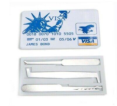 See Thru Lock Credit Card Locksmith Tool Combo Kit For Practice James Bond